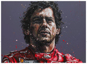 senna 24th anniversary commerative (ayrton senna)  - framed