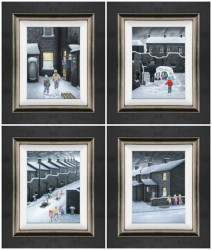 Set Of Four Winter Releases 2019 - Canvas - Framed