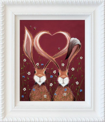 Share The Love - White Framed