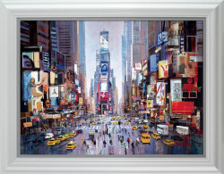 Shine Of The Times - White Framed