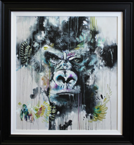 silverback - canvas  - framed