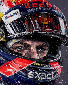 simply lovely (max verstappen) - canvas  - framed