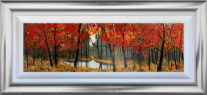 Small Pond In The Wood - Original - Framed