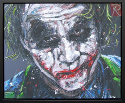Smile Because It Confuses People - Canvas - Black Framed