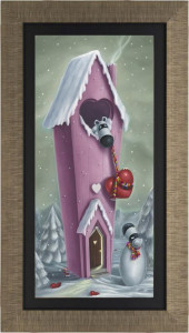 snow place like home  - framed