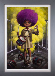 Sound Of the Funky Drummer - Canvas - Grey Framed