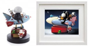 space cadets - sculpture & picture  - framed