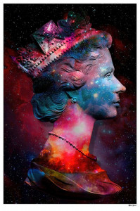 Space Queen - Regular Size - Black Background - Mounted