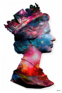 Space Queen - Small Size - White Background - Mounted