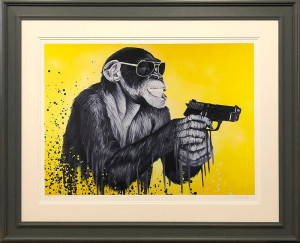 speak to the monkey  - framed