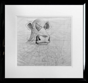 Spidermoo - Original Sketch - Framed