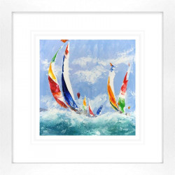 Spinnakers Away - Framed