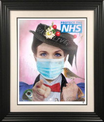 Stay Home, Save Lives - Small Size - Black Framed
