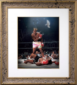 Sting Like A Bee - Lenticular Gold - Gold - Framed