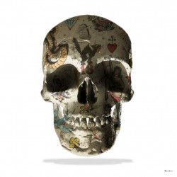 Tattoo Skull (White Background) - Small - Mounted