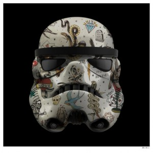 Tattoo Storm Trooper (Black Background) - Large - Mounted