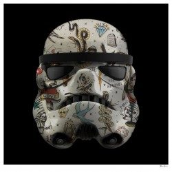 Tattoo Storm Trooper (Black Background) - Small - Framed