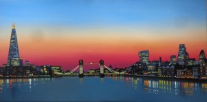 Thames Sunset - Original  - Framed