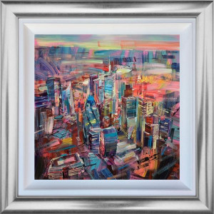 The Banking District - Original - Silver - Framed