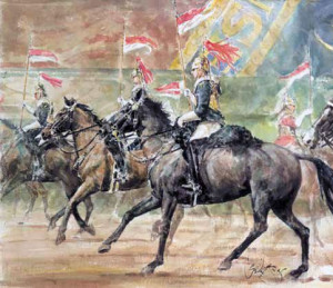 The Blues And Royals  - Framed