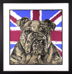 The British Bulldog - Artist Proof - Black - Framed