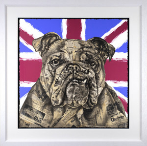 The British Bulldog - Artist Proof - White - Framed