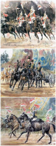 The British Military Horse Trilogy - Set Of 3  - Framed