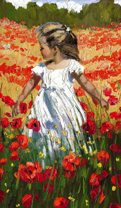 The Butterfly Amongst The Poppies - Board Only