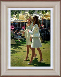 The Colour And Glamour Of Ascot - Cream Framed