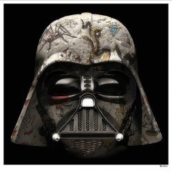 The Dark Lord - Darth Vader (Black Background) - Large - Framed