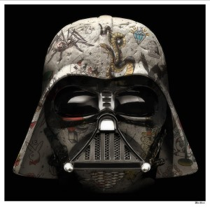 The Dark Lord - Darth Vader (Black Background) - Large  - Mounted