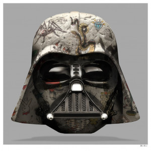 The Dark Lord - Darth Vader (Grey Background) - Large - Mounted