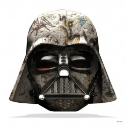 The Dark Lord - Darth Vader (White Background) - Large - Framed