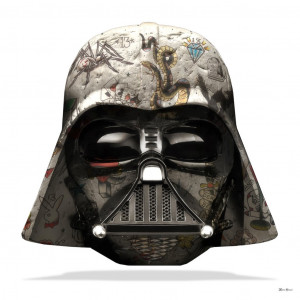 The Dark Lord - Darth Vader (White Background) - Small  - Framed