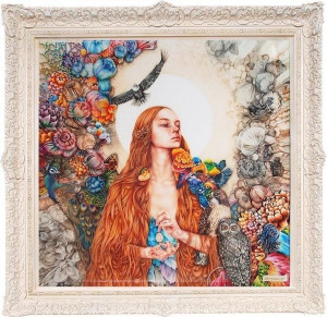 The Daughter Of Gaia - XL Edition - White Ornate - Framed