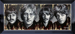 The Fab Four - Limited Edition - Black - Framed