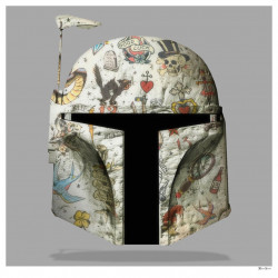 The Fett - Boba Fett (Grey Background) - Large - Framed