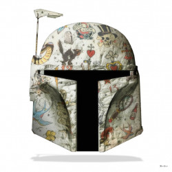 The Fett - Boba Fett (White Background) - Large - Framed