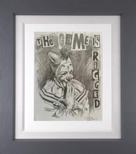The Game Is Rigged sketch - Grey - Framed