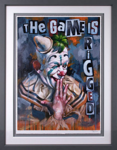 The Game Is Rigged - Grey - Framed
