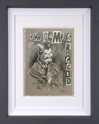 The Game Is Rigged Sketch - Grey Framed