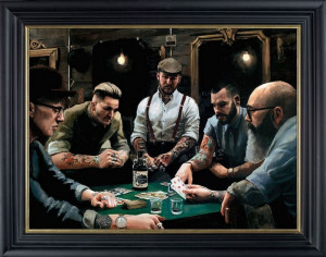 The Gentleman And Rogues Club - Black - Framed