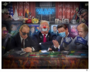 The Great Dicktators - Artist Proof - Mounted