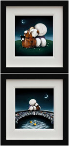 The Great Outdoors & Watching The World Go By (Set Of 2) - Black - Framed