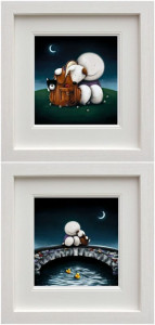 The Great Outdoors & Watching The World Go By (Set Of 2) - White - Framed