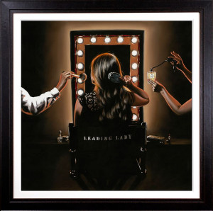 The Leading Lady - Canvas - Artist Proof Black - Framed