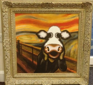 The Moo - Framed