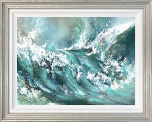 The Perfect Storm - Original - Silver - Framed