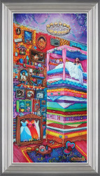 The Princess And The Pea - Silver-Blue Framed