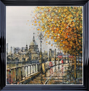 The Queens Walk - Canvas - Black - Framed